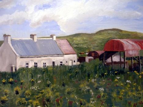 Ab_-_farmhouse_and_barn__a___ardoughter__2004__16_x_20__canvas___240_