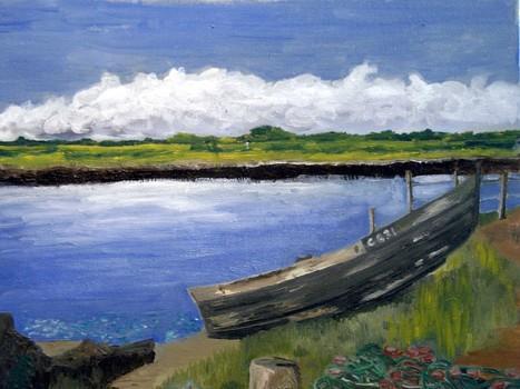 An_-_river_cashen__the__near_the_ferry_bridge__2004__16_x_20__canvas___240_