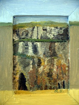 Bc_-_cliff_and_cave__a__ballybunion__2004__7_x_5__oil_paper___30_