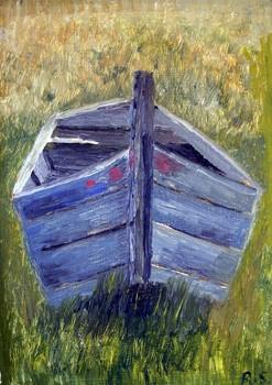 Cb_-_boat_in_a_field__a__the_cashen__2005__10_x_7__wood___50_