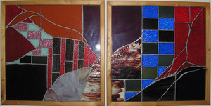 Celebration_at_the_beach_house__beryl_brenner__stained_glass__51in_wx_25