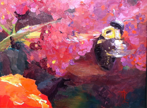 20120123210812-bee_and_butterfly_bush_8_x_10_oil_on_panel