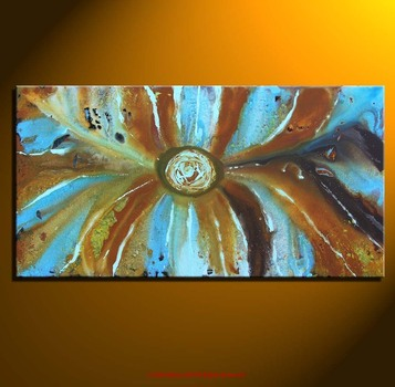 Abstract_blue_eye_orange_bg