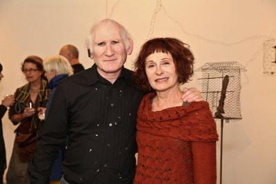 20120201191805-artist_maddy_lemel_with_art_writer_peter_frank_at_suspended_states_opening