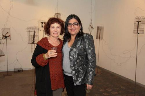 20120201191957-maddy_lemel_and_artist_linda_vallejo_at_maddy_lemel_s_suspended_states_opening_at_george_billis_gallery