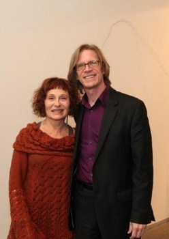 20120201192222-bill_bush_w-maddy_lemel_with_bill_bush_of_artweekla_at_suspended_states_opening_at_george_billis_gallery