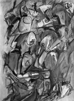 Wsmorris_splay_black_and_white_2_2007_mixed_media_on_paper_22_x_36_inches