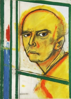 20120307202758-william_utermohlen_self_portrait__with_easel_-_yellow_and_green___1996__46_x_35_cm