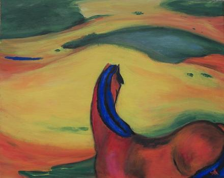 20120514220731-11013_-_tiny_-_sea_dean_-_copy_horse_in_landscape_franz_marc_-_acrylic_-_12_x_16_-_sold
