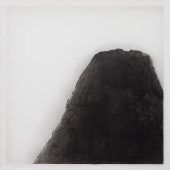 20120523094345-__xie_fan___piece_of_mountain_2012_oil_on_silk_98x98cm-2