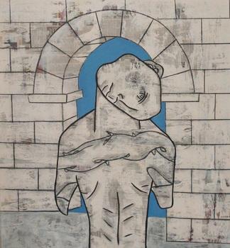 20120802170816-tatoo_history__vine_charcoal__house_paint__news_print_on_canvas__55x51_2009