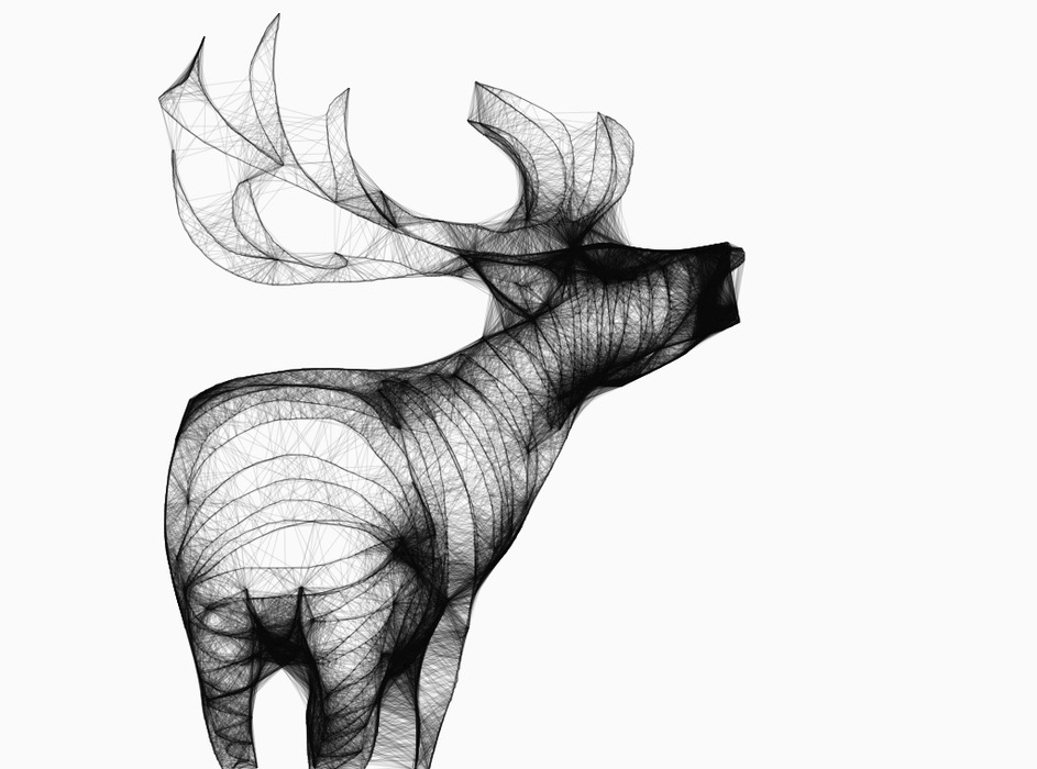 Line Drawing Deer : Leaping deer stock vector illustration of bucks drawings