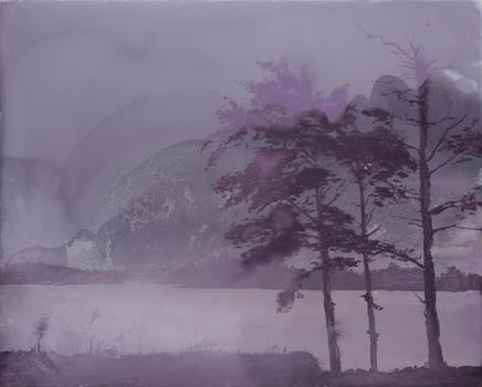 20130323052733-david_smith__trees-lake-moonlight__2013__oil_on_panel__60_x_75_cm