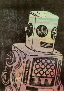 20130417092653-guy_allott__robot_on_black_background__2013__unique_woodblock_and_oil_paint_on_paper__29