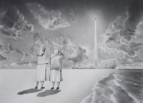 20130509010802-untitled__two_nuns_and_a_rocket__110x140cm__graphite_on_paper__2013