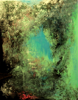 20130522050526-sandra_vucicevic__green_reflections__2012__mixed_media_on_canvas__30_x_24_in