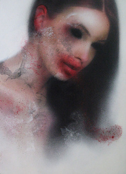 20130630110729-marco_rea___fragile___2012___pittura_spray_su_manifesto_pubblicitario___57x77_cm