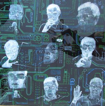 20130708062802-grazyna_adamska__skype_talk_no1__resin_coated_mixed_media_collage_on_wooden_panel__36_x_36_inches_2013