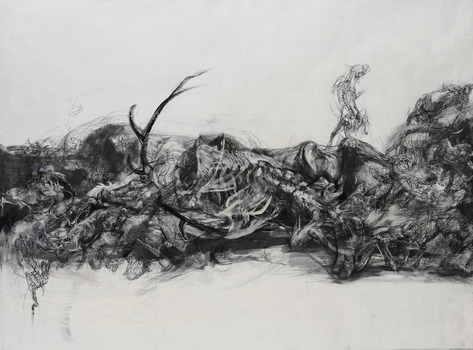 20130718151123-lanfranco_quadrio__death_of_actaeon__2013__mixed_media_on_canvas__148x200cm