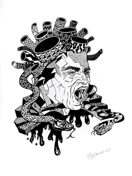 Medusa_08_ink_on_paper