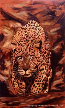 Artmatysik-bertram-matysik-dmb0003-jaguar-the-animal-oil-c