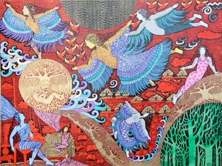 20131015104827-the_birds_of_paradise_mixed_media_on_canvas_with_24_k_gold_and_silver_leaf_36x_48_inches
