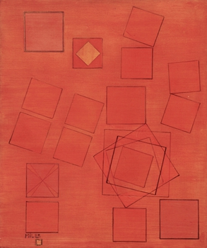 Miles_musical_squares_oil_gold_leaf_wood_1953_27x23_l