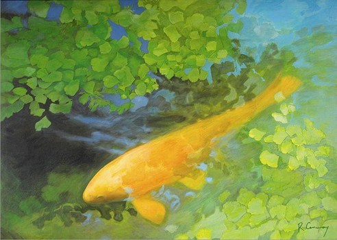 20140210175023-yellow-carp-green-acrylic-painting1