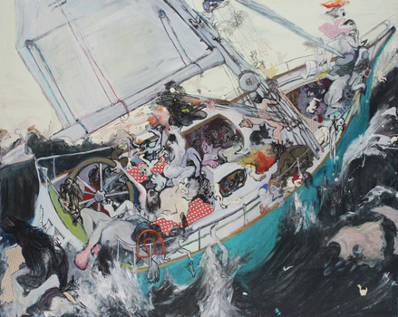 20140309183037-ship_of_fools_ink_oil_ouse_paint_and_collage_on_board_pippa_ridley