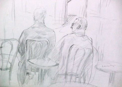 Pencil_1_conversation_in_the_tuilerie_park_in_paris