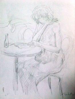 Crayon_une_jeune_femme_qui_lit