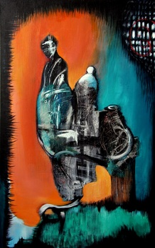 20140422184741-sandra_vucicevic__2011__trinity_-_a_spirit__a_pawn_and_something_in_between__acrylic_on_canvas__48_x_30_in