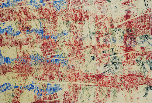 20140813213700-10_mistaken_for_strangers_4_acrylic_and_textile_on_canvas_29_x_42_inches_2013