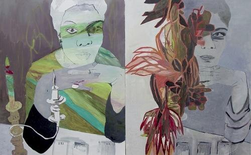 20140909183055-gina_magid__nina_simone_le_lecteur_de_tarot__2013__oil_paint_and_charcoal_on_canvas__diptych__each_panel__30_x_24_in__76_x_61_cm_