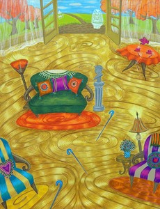 20141119005040-patssi_valdez__down_the_garden_path__2014__gouache_on_watercolor_paper__24__x_18_