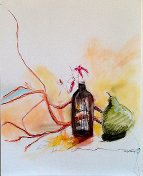 20150310032656-branches-bottle-and_pear-charcoal-and-watercolor-18x24-lesley-koenig