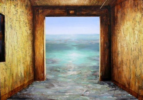 Exit__oil__sand_and_marble_dust_on_canvas__48x68__2006