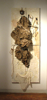 20150718213430-120703_ovonas_y_pilar_86x34x7_inches_diptych_mixed_media__burlap__collage__encaustic_and_objects_on_canvas