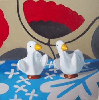 20150721195922-5_ducksonmarimekkowithredflower-2014-18x18-oiloncanvas