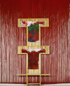 20150813180745-hermann_nitsch__untitled__2011__acrylic_on_canvas_and_painting_on_shirt__540_x_400_cm_low_res