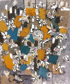 20150912185155-mariana_montes-shaw_flowers_and_bees_mixed_media_on_canvas_16_x_20in_2014