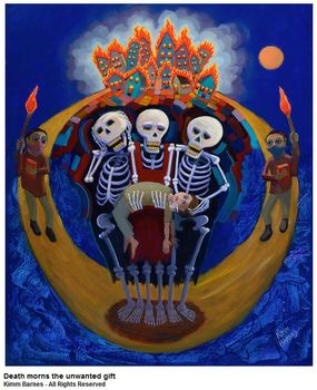 20150921010429-kimm_barnes_-_death_morns_the_unwanted_gift_-_oil_-_30_inches_x_24_inches