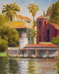 John_brunnick_-_echo_park_boathouse_10x8