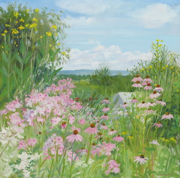 20151021010527-beal_phlox_cone_flowers_barn_30x30_oil_on_linen_2008