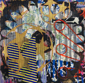 20160202111218-sb14-the-danger-qc_textiles-and-fabric-treated-with-acrylic-and-spray-paint-on-archival-paper_36-x-36-inches-458x447