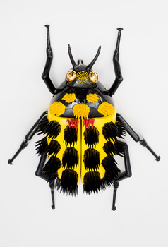 20160316154147-myung_nam_an__beetle_series_-_yellow_beetle__slip_casting_and_hand_building__60_x_35_x_13_cm