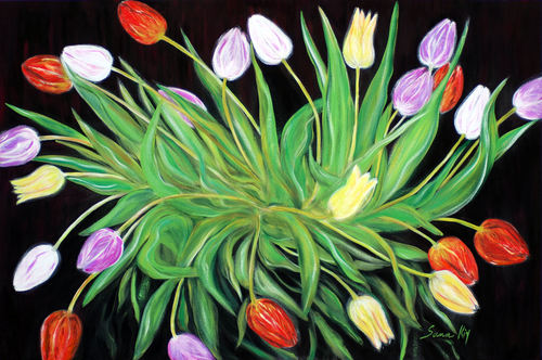 20160526224055-oksana_semenchenko_-_a_perfect_gift_of_colorful_tulips_-_acrylic_painting_-_24_x_36