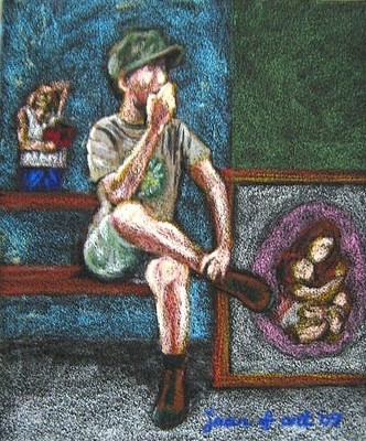 Art_talk__oil_pastel_on_sandpaper__9x11