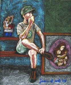 Art_talk__oil_pastel_on_sandpaper__9x11