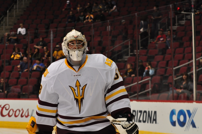 ASU Hockey Robert Levin WarmUp